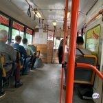 Автобус попал в передрягу с машиной в центре города