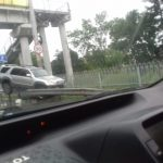 Необычной «парковкой» закончилась поездка для водителя