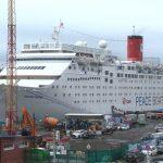 Лайнер Ocean Dream пришвартовался к причалу во Владивостоке