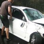 Видео: водитель не справился с управлением и попал в ДТП