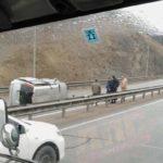 Фото: автолюбители серьезно не поделили трассу