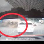 «У водителя Эскудо второй день рождения»: момент ДТП на Дальпрессе попал на видео