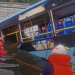 13 трупов: автобус с детьми рухнул в реку из-за драки пассажирки с водителем