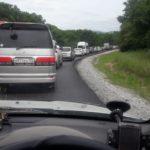 Трассу Находка-Владивосток сковала многокилометровая пробка