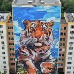 Готово: огромное граффити красуется на одном из жилых домов