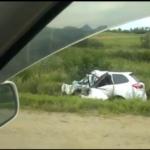 «Хана людям, полмашины просто нет»: последствия «чудовищной» аварии сняли на видео