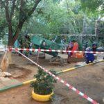 На глазах взрослых и детей: бетонная плита убила ребенка на детской площадке