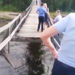 Невеста - беременна: мост рухнул под молодоженами  на Дальнем Востоке