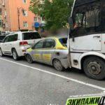 Водитель автобуса устроил массовое ДТП в центре города