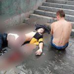 «Такая огромная лужа»: «кровавое» утро выдалось на Набережной Владивостока