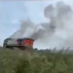 «Выглядит как-то жутковато»: поезд загорелся на железной дороге в Приморье