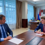 Олег Кожемяко провел рабочую встречу с врио президента ТГ FESCO Заирбеком Юсуповым