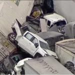 Разбиты 133 авто: крупнейшая авария произошла на автомагистрали