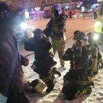 Из окна мужчина просит помощи: мощный пожар охватил дом с 1 по 9 этаж