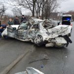 Страшное ДТП: один погиб, машина всмятку