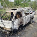 Виноват электрик? Мощный пожар охватил автомобиль после ремонта