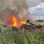 На борту - военные: вертолет Росгвардии рухнул и загорелся - видео