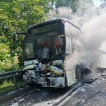 Отказ тормозов, столкновение, пожар: 62 ребёнка попали в жуткое ДТП