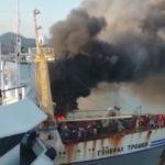 «Уже второй раз»: мощный пожар охватил приморское судно в порту Пусана