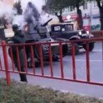 «Это от проклятий тех, кто в пробках стоял»: танк полыхнул посреди проезжей части